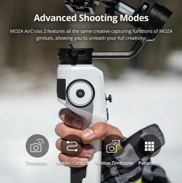 MOZA AirCross 2 Professional Camera Stabilizer beyond your imagination advanced shooting modes