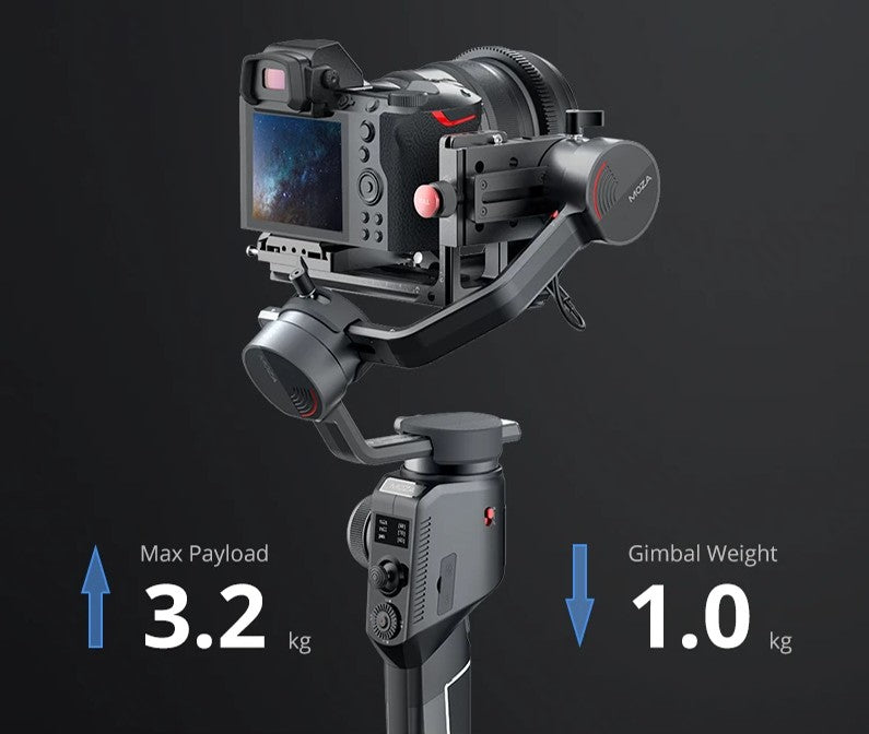 MOZA AirCross 2 Professional Camera Stabilizer beyond your imagination lightweight