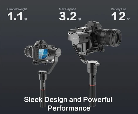 MOZA Air lightweight handheld gimbal for all mirrorless cameras and DSLRs sleek design powerful performance