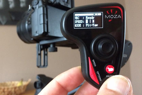 MOZA Air lightweight handheld gimbal for all mirrorless cameras and DSLRs with moza wireless thumb controller
