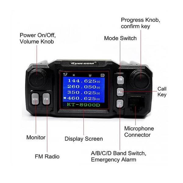 SURECOM KT-8900D MINI COLOR SCREEN MOBILE RADIO 409 shop