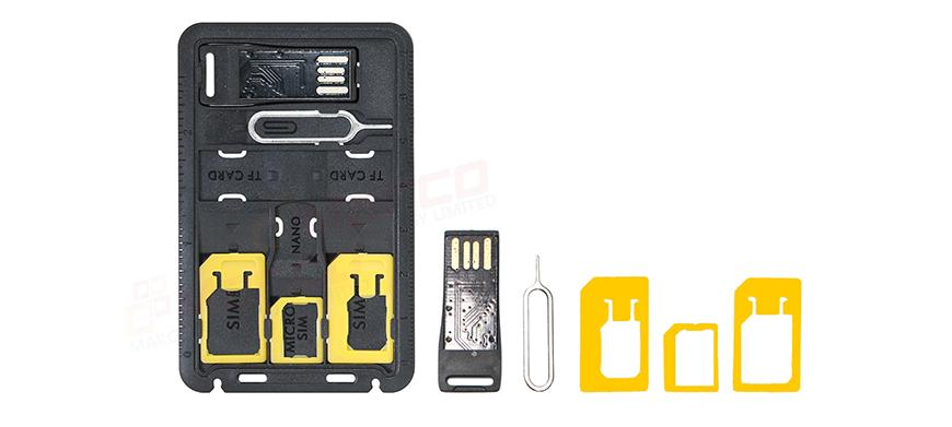 imartcity 3 in 1 sim card kit with sim card holder and micro usb card reader