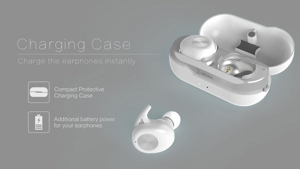 Lexuma XBud LE-701 TWS True Wireless Stereo Invisible Earbuds Airpods Charging Case best headphones top earphones Bluetooth connection 2019 best earbuds 無線耳機 藍牙耳機 真無線藍牙耳機 charge white Lexuma XBud TWS Bluetooth 5.0 Earphone True Wireless Sport Earbuds with Charging Case Lightweight Sweatproof