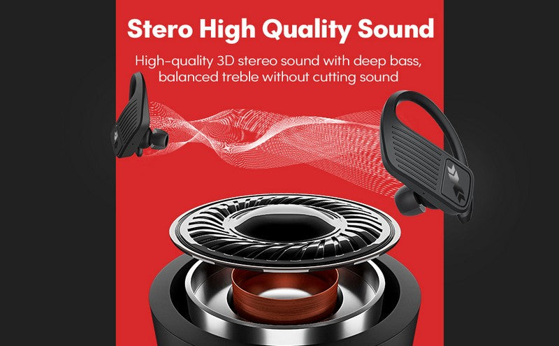 PELDA Bluetooth Headphones, Wireless Earbuds 5.0 Auto Pairing HiFi Stereo Sound True Wireless Earbuds in Ear Bluetooth Earphones Binaural Call Headset with Built in Mic and Charging Case for Sports