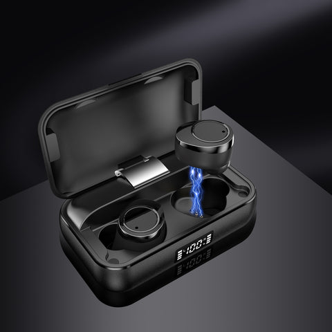 Lexuma Gadgeticloud Xbud-x True Wireless Bluetooth Earbuds with metal charging case external portable power bank