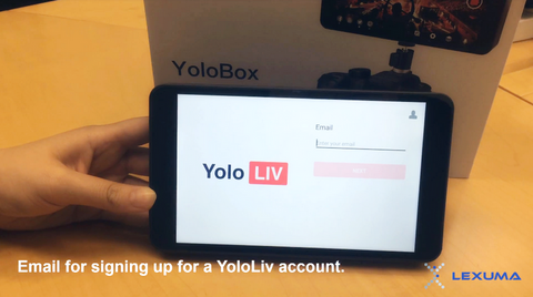GadgetiCloud YoloLiv YoloBox Unboxing Product Review with simple setup overview sign up with email address