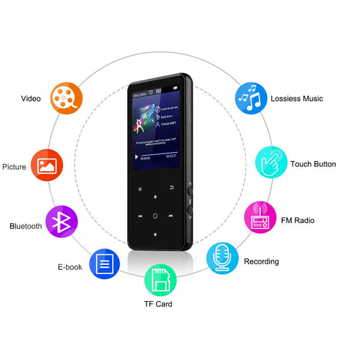 Lexuma portable bluetooth mp3 player mp3 walkman bluetooth walkman bluetooth audio player music gadget gadgeticloud multiple features