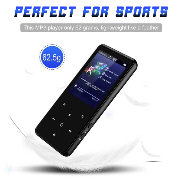 "Portable Bluetooth MP3 Player with 2.4"" Large Screen MP3 walkman bluetooth earphones best sound quality affordable sandisk Grtdhx Chenfec AGPTEK victure m3 lightweight - GadgetiCloud"