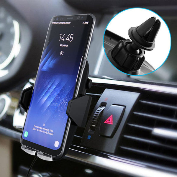 best wireless charging car mount - iMartCity blog automatic infrared sensor clamps fast charging android qi charging air  vent