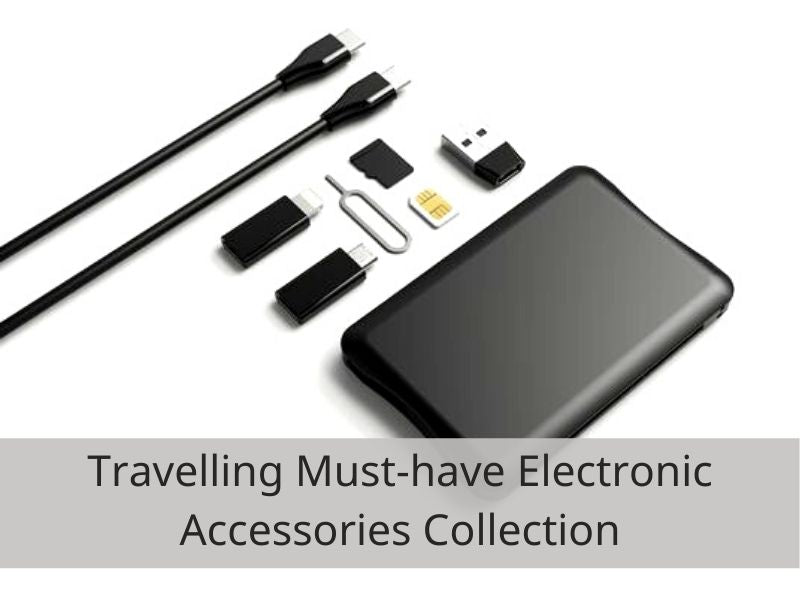 imartcity electronic gadgets collection SIM Card Connection Kit - Wireless Charging Pad and Cables for Smartphone with Nano-SIM Card Storage Slots and SIM Card Ejector organised cables