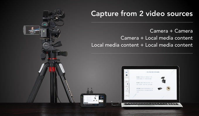 Gadgeticloud YoloLiv YoloBox Yololivbox Portable Live Stream Studio Broadcast Box with battery Wifi 4G Encoder 1080P HD video recording four in one 4-in-1 streaming gear on Facebook Youtube Twitch Capture card Switcher Studio DSLR Controller without OBS 直播 實況 直播專用 臉書直播 fb直播 直播設備 直播器 擷取盒 international version capture from two video source