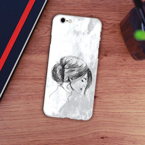 iMartCity Personalized Case for iPhone - Sketch of Chinese Woman