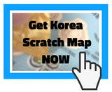 Korea scratch map - Gadgeticloud