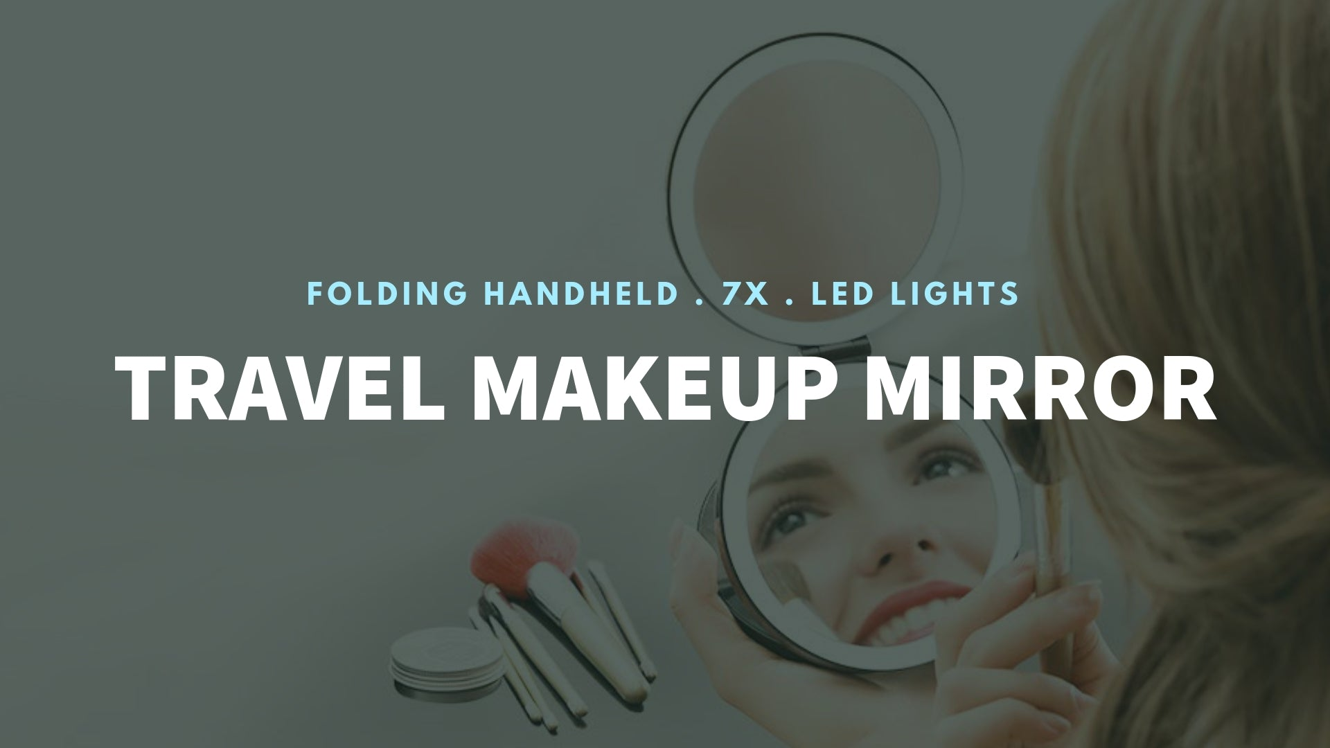 LED Lighted 3-fold Travel Compact Makeup Mirror 1X/7X Magnification magnifying mirror standing makeup magnifying bathroom s with lights trifold battery magnifying glass absolutely lush best hand zadro round makeup jerdon makeup reviews natural makeup estala hollywood vanity fancii travel makeup gala 10x magnifying makeup bestmakeup makeup with lights best ratedmakeup anjou makeup kensie vanity vanity with lights tri fold vanity wall mounted makeup banner - iMartCity