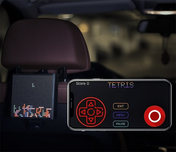 Mojipic 8-bit game -- Mojipic Voice-controlled LED Emoji Car Tailgate Display (FUN CAR EQUIPMENT)