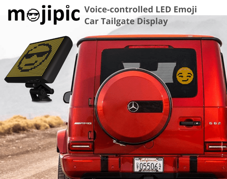 Mojipic led voice-controlled car display with over 1500 gifs and emojis why you need the car message display poster
