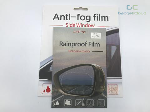 Rainproof film for Side Window and Rearview Mirror COMBO For Car Rear View Mirror scratch proof anti-static car window mirror waterproof anti fog film rainproof car sticker car side mirror waterproof membrane for car rearview mirror side waterproof Rearview Mirror Protective Film Glass Film Hydrophobic Protective package - GadgetiCloud