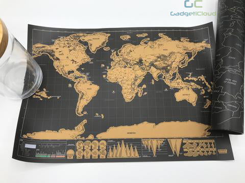 iMartCity World scratch map comparison deluxe map travel map world map scratch off map travel worldwide small map
