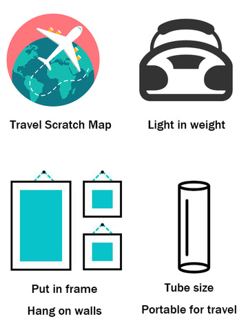 Japan scratch map - iMartCity 刮刮樂 travel to japan features