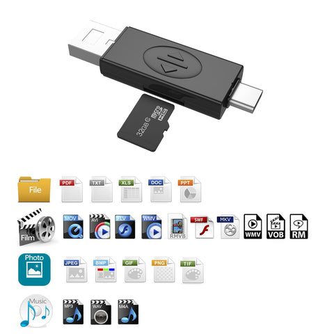 imartcity sim card adapter tf card reader sim card kit box memory card reader with usb port and type-c port