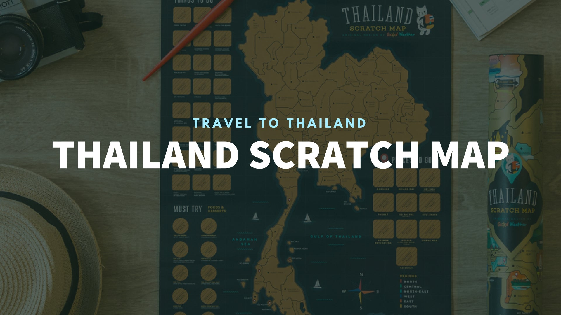 Good Weather Thailand Scratch Travel Map Travel to Thailand deluxe luckies world travel map with pins europe uk rosegold small personalised Scratch Off Traveling Thailand travelization 泰國 刮刮地圖 刮刮樂 世界地圖 banner - GadgetiCloud