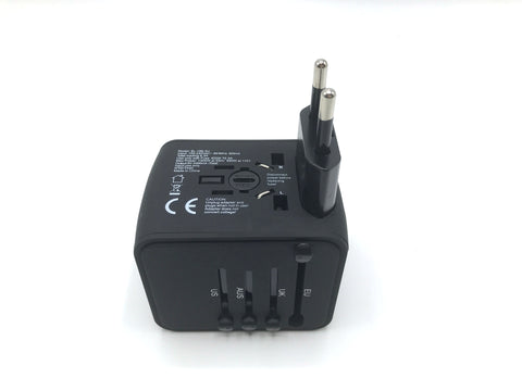 Travel with All in One Universal Travel Adapter - Plus 4 USB Ports