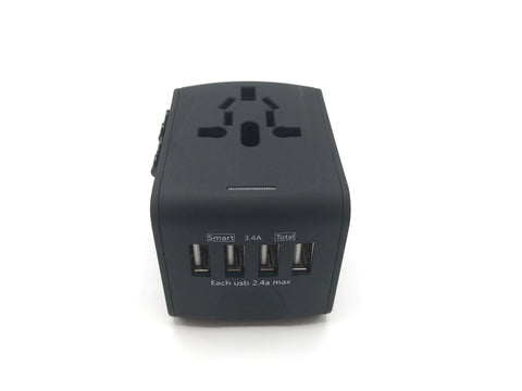 Travel with All in One Universal Travel Adapter - Plus 4 USB Ports charging for trips travel