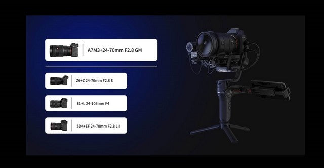 ZHIYUN Weebill-S Compact 3-Axis Handheld Gimbal Stabilizer for Mirrorless and DSLR Cameras & Lens Combos high compatibility