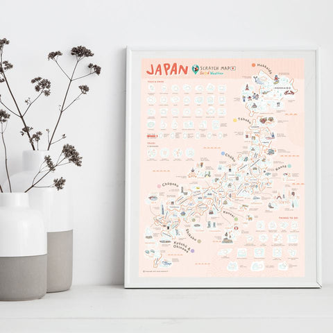 Image of Japan Scratch Travel Map - Travel to Japan - GadgetiCloud