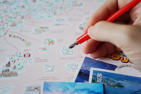 Good Weather Japan Scratch Travel Map Travel to Japan deluxe luckies world travel map with pins europe uk rosegold small personalised Scratching Off Traveling Japan travelization 日本 刮刮地圖 刮刮樂 世界地圖 - GadgetiCloud