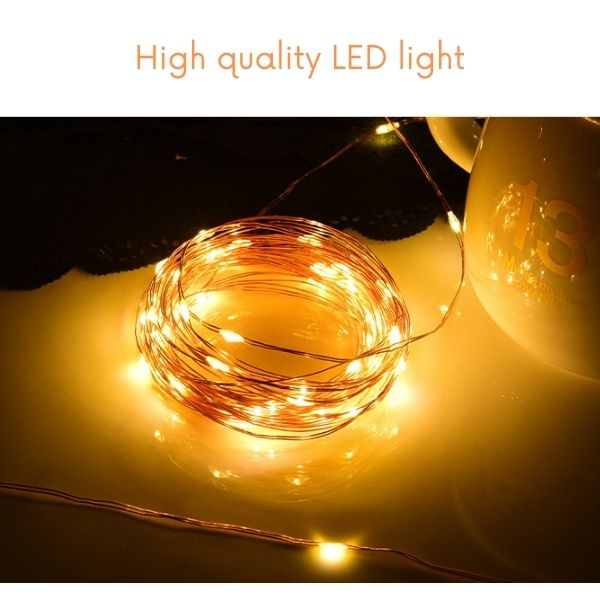 Copper Wire String Lights - Solar Garden Decorative String Lights Christmas Day Lanterns
