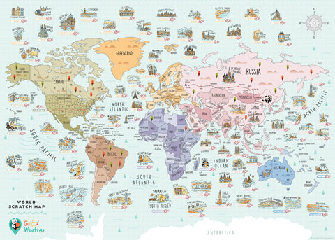 World Scratch Travel Map - Travel around the World - GadgetiCloudWorld Scratch Travel Map - Travel around the World - GadgetiCloud Scratch Off Traveling World Map 刮刮地圖 刮刮樂 世界地圖 Colorful map poster Best interesting gift by Good Weather