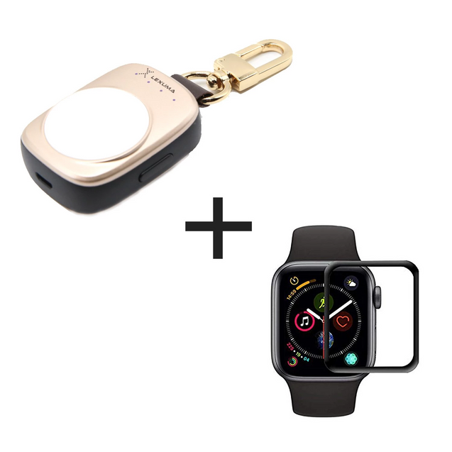 Apple Watch Power Bank and Apple Watch Screen Protective Film Combo - GadgetiCloud