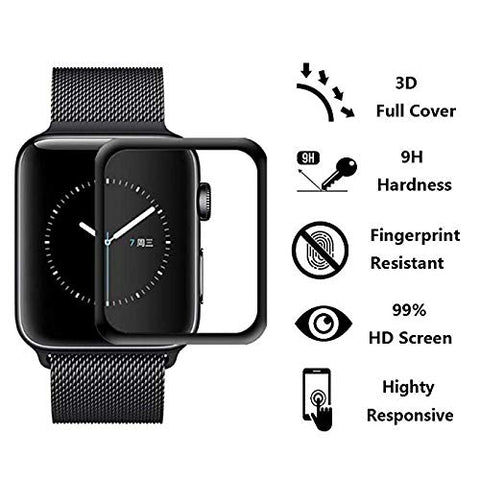 GadgetiCloud XPROTEK Apple Watch Series 4 Tempered Glass Screen Protector iWatch Anti Scratch 9h tempered Ultra thin with Black Edges applewatch protective Films features 保護殼 保護貼 蘋果手錶保護貼