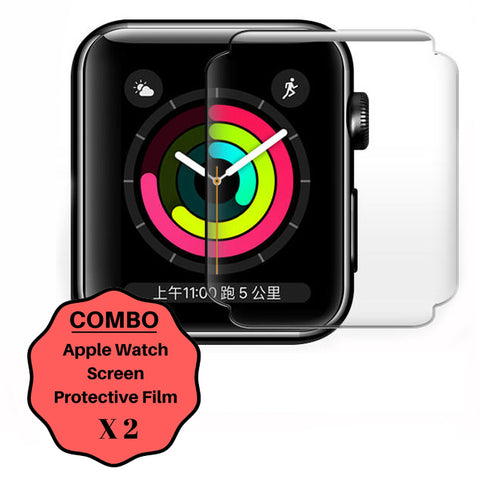 GadgetiCloud XPROTEK Apple Watch Series 1-4 Protective Films COMBO iWatch Anti Scratch 9h tempered Ultra thin with Black Edges applewatch Protector Films 保護殼 保護貼 蘋果手錶保護貼