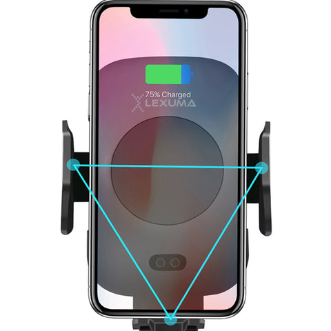 Image of Lexuma Automatic Infrared Sensor Qi Wireless Car Charger Mount - GadgetiCloud
