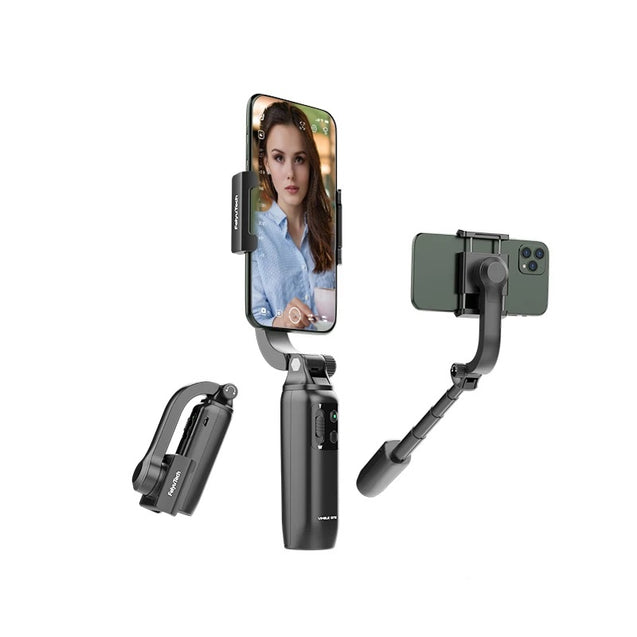 FeiyuTech-Vimble-One-Single-Axis-Smartphone-Gimbal-Stabilizer all positions view folded view