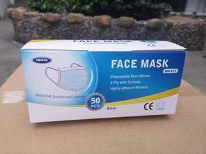 DHUA 3-layers Surgical Mask (BFE 99%) 50pcs/Box - GadgetiCloud