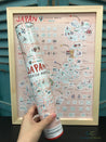 Japan Scratch Travel Map with Frame - GadgetiCloud