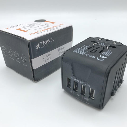 Image of Universal Travel Adapter - All in One Worldwide Charger for US EU UK AUS with 4 USB Port - GadgetiCloud