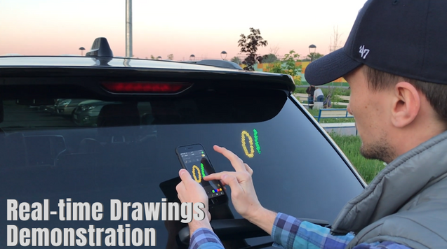 Mojipic Voice-controlled LED Emoji Car Tailgate Display