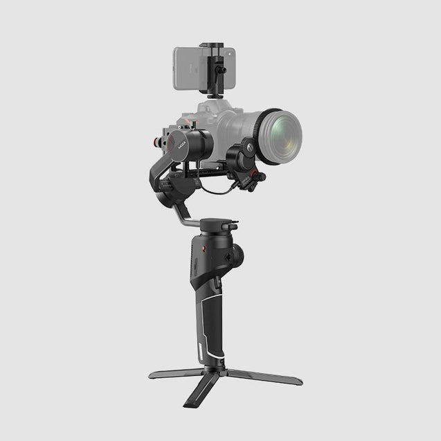 MOZA AirCross 2 Professional Camera Stabilizer beyond your imagination white color with professional kit with mobile phone