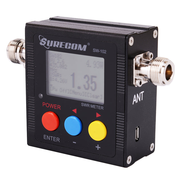 SURECOM SW-102 VU V.S.W.R. POWER METER with frequency counter - GadgetiCloud