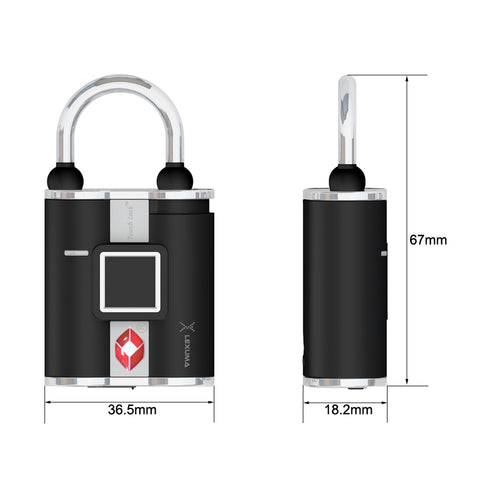 Image of Lexuma XLock - TSA Fingerprint Padlock - GadgetiCloud