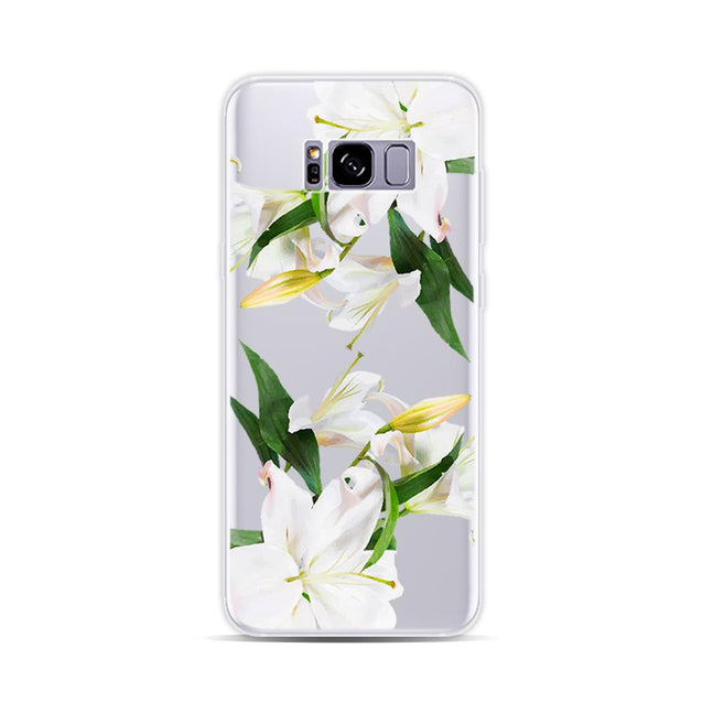 Personalized Case for Android - White Lily - GadgetiCloud
