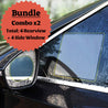Side Window and Rearview Mirror Films Combo BUNDLE (4 Packages) - GadgetiCloud