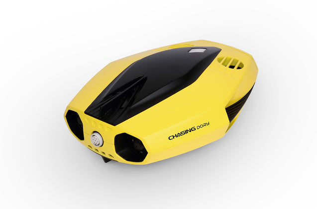 chasing dory underwater drone submarine full hd camera buoy front side view