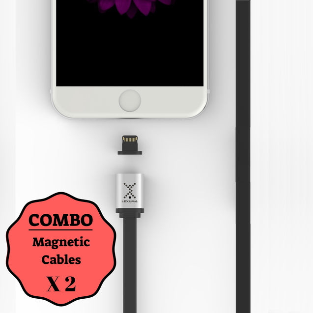 Lexuma XMAG – Magnetic Lightning Cable COMBO (Apple) - GadgetiCloud
