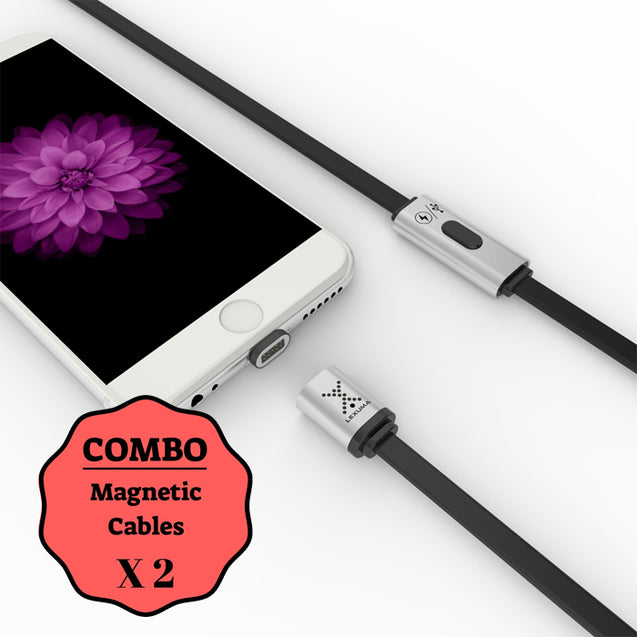Lexuma XMAG Plus – Magnetic Lightning Cable COMBO (Apple) - GadgetiCloud