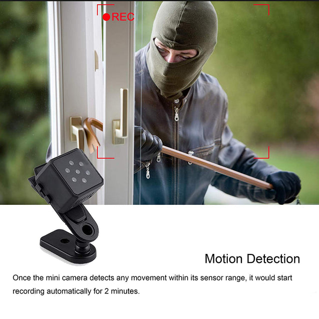 Thumb-Size Wireless Mini 1080P Night Vision Security Camera With 140° Wide-Angle Lens - GadgetiCloud